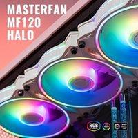 MF120 Halo Dual anillo direccionable RGB Ventilador Radiador de líquido Ordenador Sistema de enfriamiento de agua Bloqueo de agua para PC Caja de computadora 1