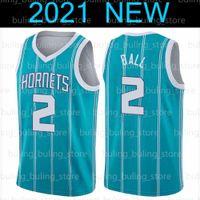 "Lamelo 2 Ball Jersey Gordon 20 Hayward Charlotte ""Hornets""올리언즈 ""Pelicans""Lonzo Zion 1 Williamson Barketball Jerseys"