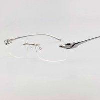 ذكر سبائك الفهد النظارات التيتانيوم نظارات دون مربعات هوب عدسات فاخرة واضحة عدسة البصرية الذهب النظارات إطارات flrx