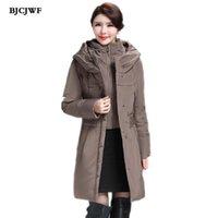 Mulheres para baixo parkas bjcjwf mulheres 2021 inverno 90% branco pato casaco com capuz Rússia feminino moda longa jaqueta espessante quente mais tamanho