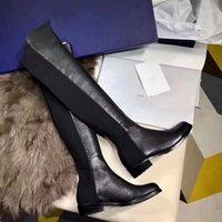 2020 Paris Klasik 5050 Elastik Çizmeler 2.5 cm Topuk kadın Sonbahar Ve Kış Yeni Deri İnce Ayakkabı Ile İnce Bacaklar Yüksek Uzun Çizmeler Kızlar