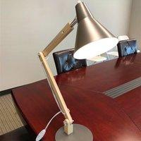 Melhor Alightup Classical Mini Moda Fosco Metal Lampshade e Suporte de Madeira Textura Textura Lâmpada de mesa com fonte de luz US Plug