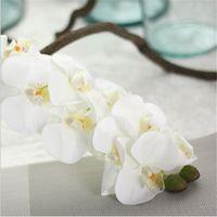 10 têtes 72cm Fleur artificielle Phalaenopsis Latex Silicon Real Touch Big Orchidée Orchidee pour la décoration de la maison de mariage