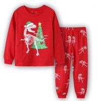 2020 الفتيان عيد الميلاد بيجامة بيما infantil الفتيات سانتا PJS جيكيليك كوسزولا نوكنا منامة أطفال animais دينوسوريوس بيجامة مجموعة 1