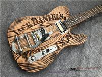 E-Gitarre des neuen Stils, kleines Jazz-Tremolo-System, ash-hölzerne handgefertigte schwere Relikt-Guitar.Two-Bridge-Brückenstil, Farbe kann angepasst werden.