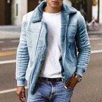 Men's Fur & Faux WEPBEL Plus Size Short Coat Street Style Masculina Mens Leather Coats Large Lapel Motorcycle Jacket