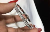 Braccialetto in acciaio inossidabile di lusso di alta qualità Gypsophila Braccialetto stretto di lusso doppio diamante Diamante Diamante Diamante Diamante Braccialetto gratuito Regalo squisito