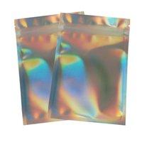Resealable Makeup Sub Package Torby Holograficzne Laser Pet Materiał Przechowywanie Żywności Wouch Folie Prezenty Pocket Torba 100 sztuk / Pack 0 23HW E19