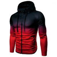Jerseys corriendo Zipper Hoodie Sudadera Sportswear Fitness Trainingsuit Hooded Sports Jacket Hombre Secado rápido Chaqueta 1