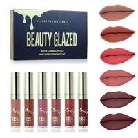 Belleza acristalada mate líquido lápiz labial fijo impermeable natural maquillaje de larga duración liquido lápiz labial lápiz labial labios
