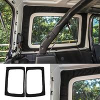 Coton isolant de lunette arrière noir 4Door pour Jeep Wrangler JL JLU 2018 2019 2020 Accessoires d'intérieur