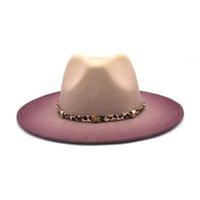 جديد التعادل صبغ فيدورا قبعة النساء كبير بريم الخريف الشتاء الصوف قبعة الرامي سيدة بنما خمر الرجال الجاز كاب sombrero كاب