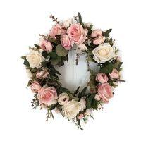 Festão de flores de simulação artificial clássica de forma para sala de casa jardim lintel decoração T200331