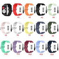 Soft Silicone Watchband запястья запястья ремешок для замены Huawei Watch Fit (TIA-B09 / TIA-B19) Sport SiliCone Band для Huawei Fit