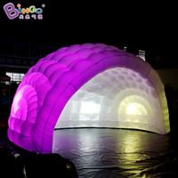 Personalizzato 5.5x4x3.5 metri LED Illuminazione a cupola a cupola gonfiabile per palcoscenico Prop di alta qualità Cupola igloo per il partito di nozze giocattoli sportivi