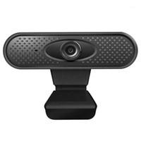 캠코더 USB 웹캠 고화질 1080P 웹 카메라 클립 온 클립 온베이스가있는 Micropghone 랩탑 컴퓨터 PC1 용 USB2.0 캠