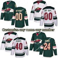 Minnesota Wild Jerseys 11 Parise 16 Zucker 3 Coyle 9 Koivu 20 Suter 22 Fiala Dubnyk Personalizza qualsiasi numero qualsiasi nome hockey jersey