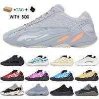 2021 Kanye West 700 V1 V2 V3 Mnvn Dalga Koşucu Erkek Sneakers Ayakkabı Azael Alvah Azareth Utility Siyah Katı Fosfor Turuncu Bayan Spor # 32