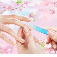 6 Cores Durável Profissional Saúde Cristal De Vidro Arquivo De Prego Manicure Polonês Dispositivo De Lixamento Nail Art Arquivos Manicu Qylhoq