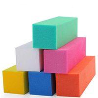 10 teile / satz Weiß Nail art Sanding Schwamm Puffer Block Fingernagel Schleifen Polieren Nagel Dateien Maniküre Pediküre Werkzeug DIY Home