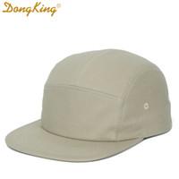 Dongking 5 Панели Cap Cap Короткие Brim Hat Flat Bill Хлопок Пустые Кемпинг Шляпы Сплошные Цвета Низкая Корона Классическая Регулируемая Бесплатная Доставка Y1130