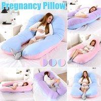 Подушка для спальной поддержки для беременных женских корпус хлопчатобумажная наволочка u формировать подушки для беременных беременность боковых шлейных постельных принадлежностей