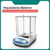 Цифровые аналитические баланс лабораторные весы микробалансированные электронные прецизионные весы баланса 200 г 300 г диапазона 0,001 г разрешения