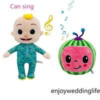 DHL US Stock COCOMELON puede cantar juguete suave música dibujos animados familia cocomelón jj familia hermana hermano mamá y papá juguete dall dall dalls chritmas regalos