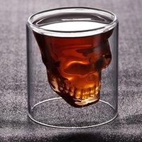 Whisky Tequila Glass Fun Fun Creative Party Beer Beige Boire Cuabine Crâne Sake Verre Tasse Cristal Bière Tasse Tasse Verre Squelette