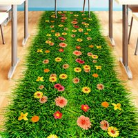 Pegatina de piso verde Pegatina Vinilo DIY Hierba Decoración para el hogar Etiqueta engomada para niños Habitaciones Dormitorio para bebé Decoración del hogar 201204