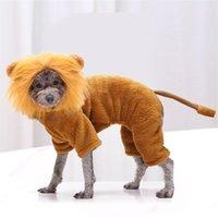 الفانيلا الاستمرار الدافئة الكلاب الملابس أربعة الساقين القطط الحيوانات الأليفة تيدي الأسد الفرنسية البلدغ الإمدادات زي الخريف الشتاء الكلب معطف جديد وصول 14gga M2