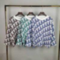 Suéter para hombre Último estilo de explosión Primavera Verano Cuerpo completo Carta Impresión para hombre Camiseta de alta calidad estilo occidental negro