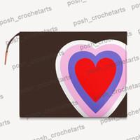 Pochette de toilette 26 Gameon à vendre Designer Tolitise Sac 26 jeu sur la collection Sac de cosmétique pour le style de poker cadeau de la Saint-Valentin avec boîte