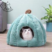 Shuangmao الحيوانات الأليفة القط الكهف السرير داخلي هريرة البيت الاحترار لكل الكلاب عش قابلة لطيفة جرو ماتس النوم الشتاء المنتجات 1