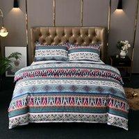 Casa têxteis conjuntos de cama 2/3 pcs conjuntos de cobertura de edredão (1duvet capa, 1/2 travesseiro) Capa de colchão travesseiro Sham Europa América estilo