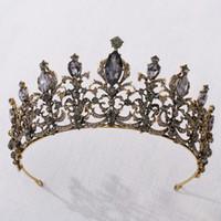 2021 Neue Vintage Barock Braut Tiaras Zubehör Abschlussball Headwear Erstaunliche Sheer Kristalle Hochzeit Tiaras und Kronen 1913