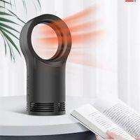 Calentador sin hojas Mini calentador eléctrico portátil Oficina en casa Escritorio Calentador de aire caliente Calentador Máquina Calentador Protección de sobrecalentamiento 2 tipos
