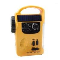 Radio Multiple Use Solar Powered Hand 5LED 8LED Leselicht USB-Ladung Notfallladegerät Alarm1