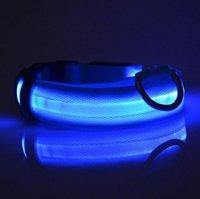 Glühende Pet-Halsbänder wiederaufladbare leuchtende Haustiergürtel einstellbar personalisierter Hundekragen Nylon Anti-Los-Welpe-Katzen-Haustier-Halsband Sea FFC5136