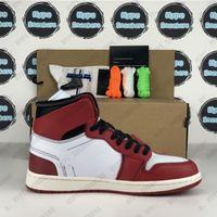 OG Hombres Mujeres Zapatos de baloncesto Obsidian UNC Turbo Green White Shadow Black Toe Retroles 1 High 1s Trainers Sneakers con regalos de caja