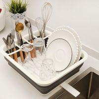 Складная тарелка для хранения кухни для кухни для хранения кухни для хранения стока для хранения посуды.