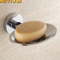 핫타 얀 아연 합금 크롬 비누 접시 비누 홀더 브랜드 욕실 액세서리 YT-10990 Y200407