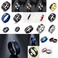 Оптовая торговля мужчинами женские углеродные волокна дракона полосальная пара кольца из нержавеющей стали кольца ретро хип хмель кольцо ювелирных изделий размером 7-11