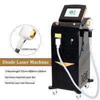 Professionelle Diode Lasertherapie Haarentfernung Dioden Anti Hair Wachstum DEPILNUNG Lazer Epilation Maschine 755NM + 808nm + 1064nm Lasersystem