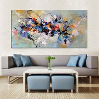 Beste nieuwe foto schilderij abstracte olieverfschilderijen op canvas 100% handgemaakte kleurrijke canvas kunst moderne kunst voor thuis muur decor T200118