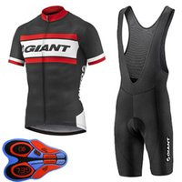 2021 Equipo gigante Hombres Ciclismo Jersey Traje de manga corta Ropa de bicicleta con pantalones cortos de babero Ropa de secado rápido Ciclismo Verano MTB Bike Uniform Y21030