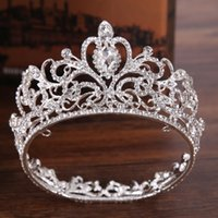 Trendy Silver Color Crystal Crown Princess Tiara Accessori per capelli da sposa Piccola corona per principessa capelli ornamento da sposa