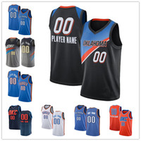 Benutzerdefinierte Shai 2 Gilgeous-Alexander OklahomaCity Luguentz 5 Dort Al 42 HorfordThunder Russell 0 Westbrook OKC Basketball-Trikots