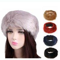 8 ألوان إمرأة فو الفراء عقال فاخرة للتعديل الشتاء الدافئ الأسود الأبيض الطبيعة الفتيات earwarmer earmuff