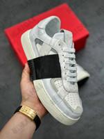 رجل برشام كالفسكين VL7N أحذية جلدية Luxurys المصممين إمرأة أحذية رياضية عداء المدربين مصمم الشقق المتضخم عارضة الأحذية